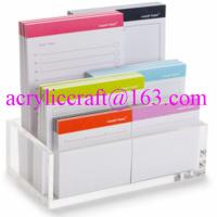 China Acrylic memo holder tabletop clear plexiglass paper note holder on sale