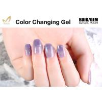 Quality Unharmful Ingredients Colour Changing Gel Nail Varnish , UV Led Gel Polish No Odor for sale