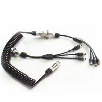 Quality Curly 7 Pin Trailer Cable Spiral Power Cable For Camera Kits for sale
