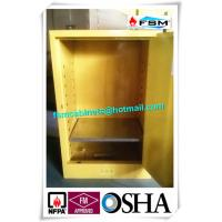Buy Steel Yellow Industrial Safety Cabinets For Laboratory Flammable / Dangerous Goods at wholesale prices