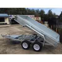 China 2000kg 10 X 5 Tandem Trailer / Galvanised Tipper Trailer With Checker Plate Rolled Body on sale