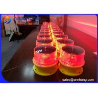 Quality Flash Mode Solar Obstruction Light 32.5cd For Large - Scale Port Machinery for sale