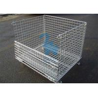 Quality Fireproof Wire Mesh Storage Cages Containers For Hardware Tools 1500kgs Loading Capacity for sale