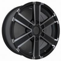 Quality Car Alloy Wheel Rim of Aftermarket ,with Matt Black Full Polish, Measuring 17 x 7.5/18 x 7.5 Inches for sale