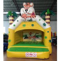 Quality Small Inflatable Tiger Bounce Forest Jungle Tiger Modeling Inflatable Jump House For Children Under 8 Years for sale
