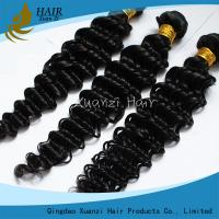 Quality Long Lasting Malaysian Virgin Hair Extensions Deep Wave 8  -  32 Feet  No Chemical 7A for sale