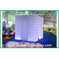 Quality Purple Square Inflatable LED Photo Booth Enclosure With Led Lights for sale