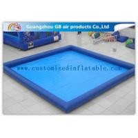 China Rectangular Inflatable Swimming Pool Above Ground , Backyard Inflatable Pool For Family on sale
