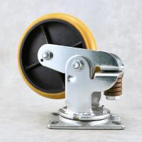 Quality Industry Shock Absorbing Casters / Spring Loaded Heavy Duty Trolley Wheels for sale
