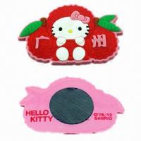 Quality Refrigerator Magnets, Made of Soft PVC, Ideal for Promotional Gifts, Customized Designs, Many Colors for sale