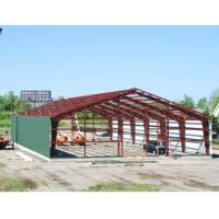 China Double Span Steel Building Frame , Industrial Steel Framed Buildings With H Type Columns / Beams on sale