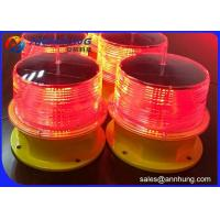Quality 3W Power Solar Obstruction Light Recyclable Batteries For Towers / High Building for sale