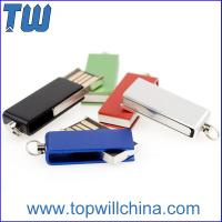 Quality Tiny Swivel Thumb Drives 16GB 32GB with Free Key Chain and Free Logo Printing for sale