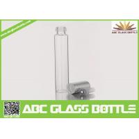 Quality 10ml Long Thin Custom Made Clear Perfume Glass Bottle With Screw Cap for sale