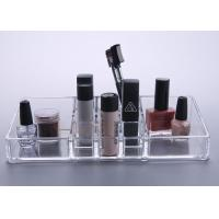 Quality Crystal Clear Plastic Makeup Display Stand Organizer Tray Multifunction for sale
