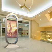 Buy cheap 55inch Self Emission transparent oled display module advertising window from wholesalers