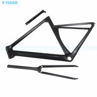 Quality 7-tiger carbon road bike frame 700c Road Frame aero frame 480 mm  light frame with Customized color Zero offset seatpost for sale