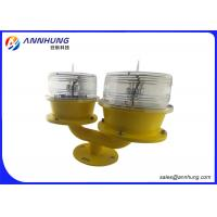 Quality Double OB Light Solar Powered Aviation Obstruction Light Long Life for sale