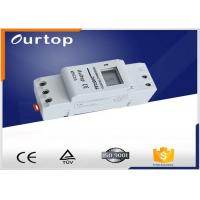 Quality Din Rail Programmable Electronic Timer Switch , On Off Timer Switch North 1 ~ 66 º South 1 ~ 66 º for sale