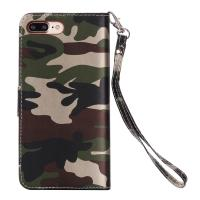 Quality Camouflage IPhone Leather Wallet Case For Iphone 7 Plus Crazy Horse 64g for sale