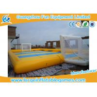Quality Waterproof 0.9mm PVC Inflatable Sports Field , Inflatable Football Pitch for sale