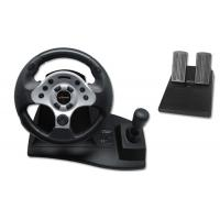 China Computer USB Video Game Steering Wheel And Pedals With Suction CuP on sale