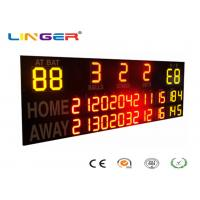 Quality Outside UV Protection 12 / 20 Inch LED Electronic Baseball Scoreboard in Yellow and Red Color for sale