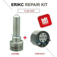 Quality ERIKC 7135-659 common rail injector spare parts valve 28440421 28239294 9308-621C and nozzle L097PBD repair kit group for sale