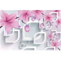 China Eco Friendly 3D Bamboo Wall Panels Pink Flowers 8mm 18mm 20mm Thickness on sale