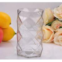 Quality Clear Diamond replacement votive glass candle holders By Mouth Blown Processing for sale