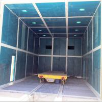 China Steel element electric  handling cart from sand blasting booth to painting booth on sale