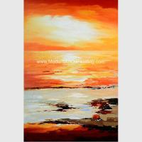 Buy cheap Abstract Orange Canvas Painting Wall Decor Covered With Thin Plastic Layer from wholesalers