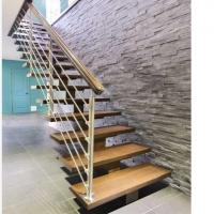 Buy cheap modern center beam straight staircase,mono stringer staircase design from wholesalers