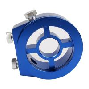 Buy Aluminum Racing Car Oil Pressure Gauge , Blue Oil Filter Sandwich Adapter at wholesale prices