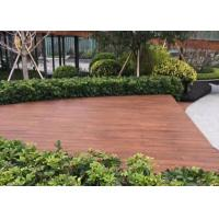 Quality Fire Resistant Outdoor Wood Tile , Wood Deck Tiles Non Deformation For Boat for sale