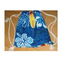 Quality Portable Beach Towel Drawstring Bag Reactive Printing With Smooth / Dot Embossing for sale