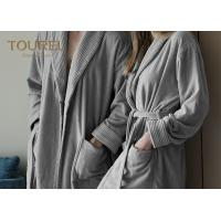 Quality Flannel Thick Fleece Hotel Quality Bathrobes Hooded Sleepwear for sale