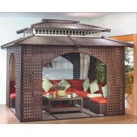 Quality China garden house outdoor pavilion with sofa garden rattan tents 1113 for sale