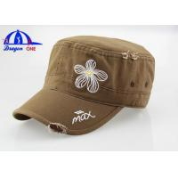 Quality Simple Style Wash Flat-top Military Outdoor Trucker Baseball Hat / Cap Fashion and Cool for sale