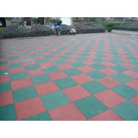 Quality Primary Schools Playground Safety Surface Rubber Tiles High Density Durable Mat for sale
