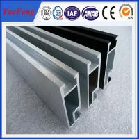 Quality OEM extruded aluminum rail, u shape hospital curtain track aluminium rail for sale