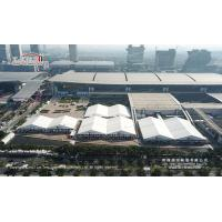 Quality 30m And 40m Tent With ABS Or Glass Hard Walls Used For Canton Fair And Other Exhibition Rental Business for sale