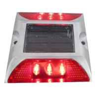 Quality Die Casting Aluminum Solar LED Road Stud 6 LEDS Powered By Mono Crystalline Solar Panel for sale