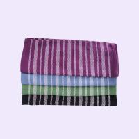 Quality Stripe Pattern Standard Size Cotton Kitchen Tea Towels / Cleaning Cloth For House for sale