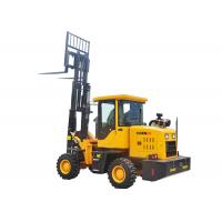 Quality 4.4 Ton Small Small All Terrain Forklift , 4 Wheel Drive Forklift CE Approved for sale