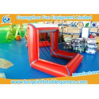 Quality Air Sealed Inflatable Football Pitch Logo Printed / Inflatable Soccer Goal for sale