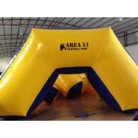 Quality Outdoor Games Inflatable Paintball Bunkers 0.9mm Pvc Tarpaulin 5 X 2.5 X 1.25m for sale