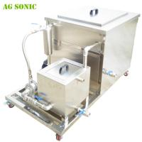 Quality 28khz Industrial Ultrasonic Cleaner for Car Fuel Tanks , Car Injectors , Carburator with Oil Skim for sale