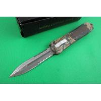 Quality Microtech knife A163 double blade half serrated for sale
