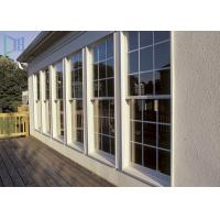 Quality Grille Design Aluminium Vertical Sliding Single Hung Windows For Residential for sale